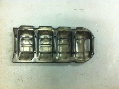 Крышка металлическая двигателя б/у